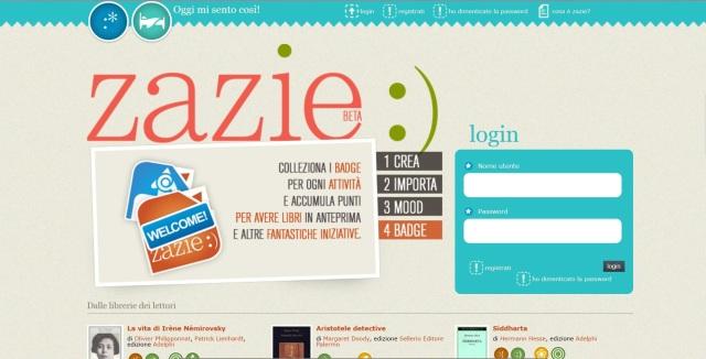 La Home Page di Zazie