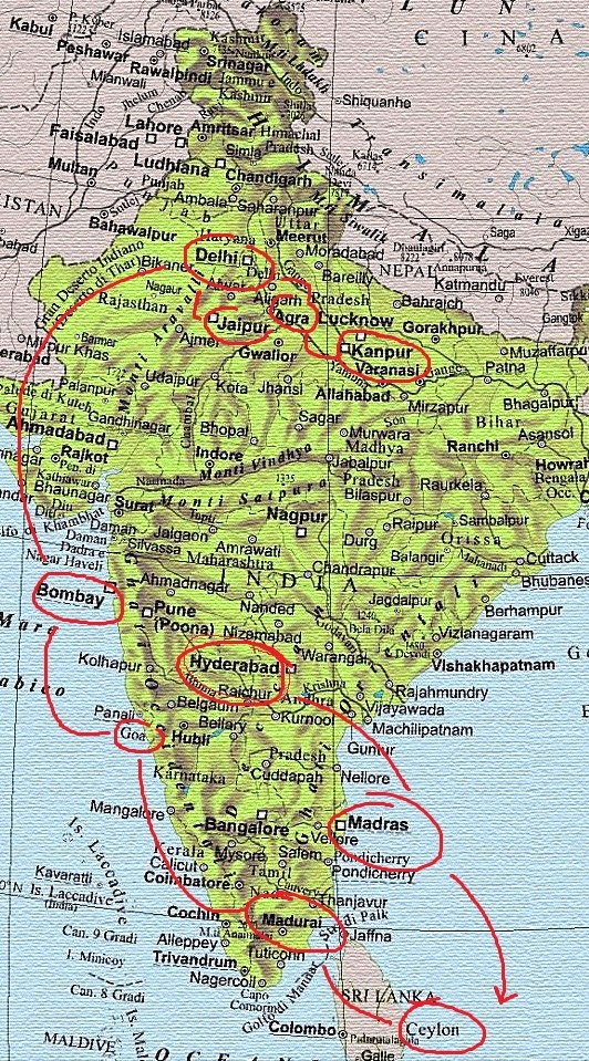 Cartina Muta India Da Stampare.L India Di Gozzano Poeta Esploratore Generazione Rivista